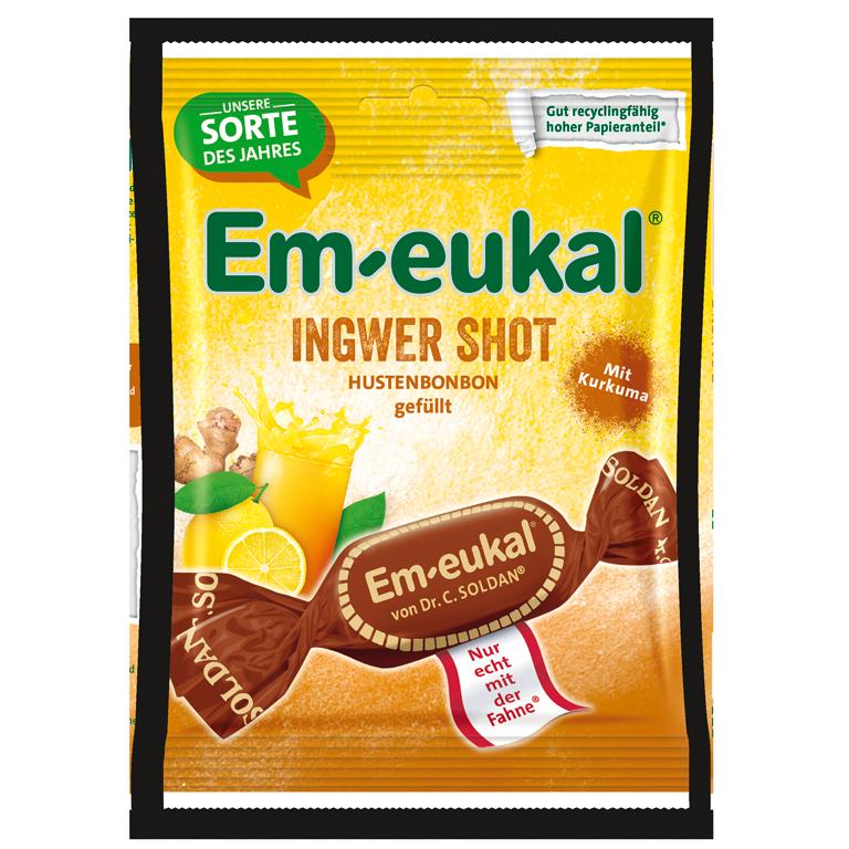 Em-eukal Ingwer Shot gefuellt