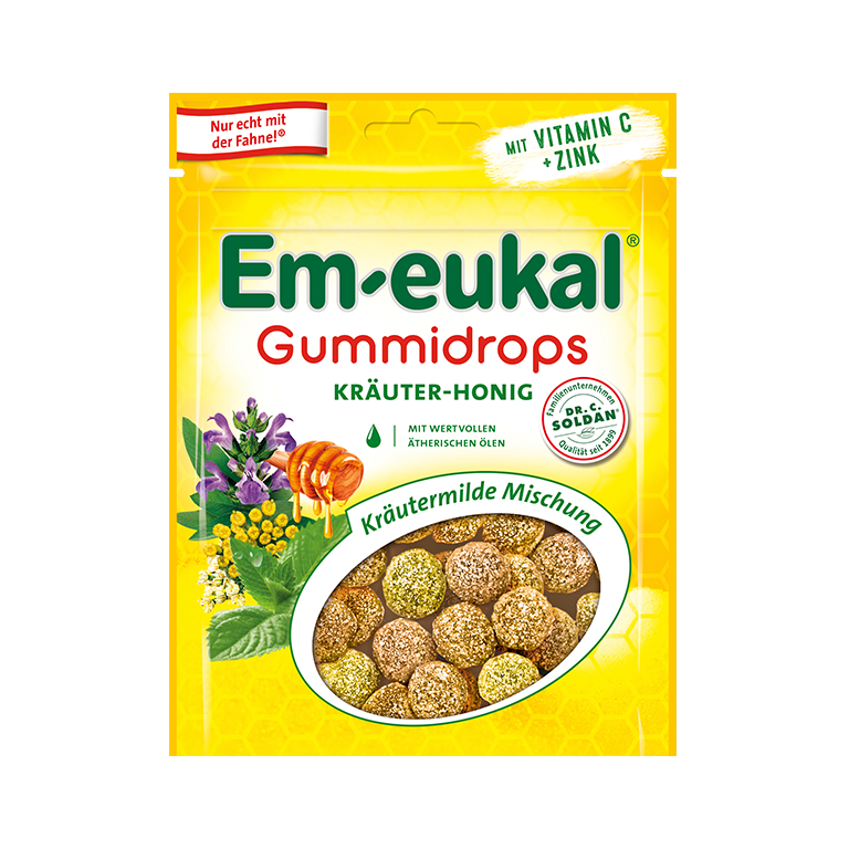 Em-eukal Gummidrops  Kraeuter-Honig Mischung