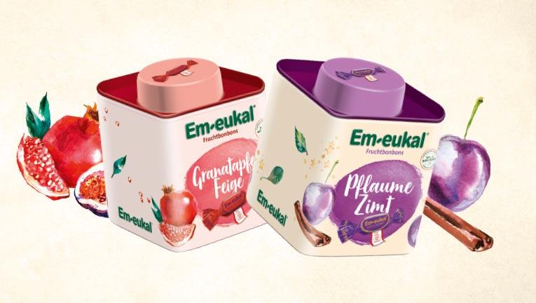 Aktionsdosen Em-eukal Granatapfel Feige und Pflaume Zimt Sammeldosen 2020 Teedosen Vorratsdosen