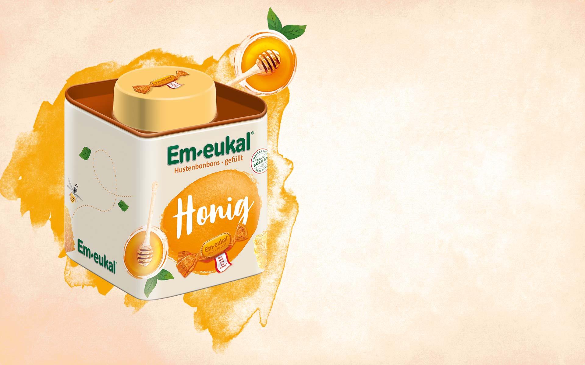 Aktionsdose Honig gefüllt
